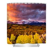 Original Landscape Painting Shower Curtain