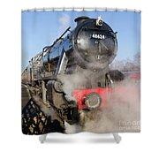 48624 Steam Locomotive Shower Curtain