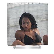 Black Bikinis 49 Shower Curtain