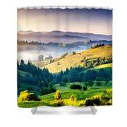 Walls Landscape Shower Curtain