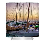 4956- Key West Harbor At Sunset Shower Curtain