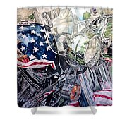 4th Of July Cycle Shower Curtain