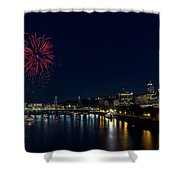4th Of July Fireworks At Portland Waterfront 2016 Shower Curtain