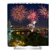 4th Of July Fireworks Shower Curtain