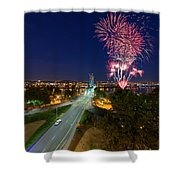 4th Of July Fireworks Portland Oregon Shower Curtain
