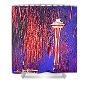 4th Space Needle Shower Curtain