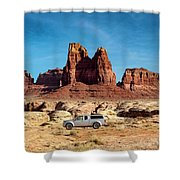 4x4 At Lake Powell Shower Curtain