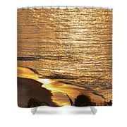 Golden Scenery Shower Curtain