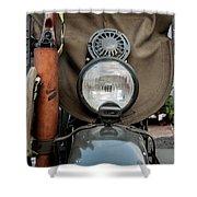 Perfect 1942 Harley Davidson Wla Shower Curtain