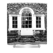 A Building Exterior  Shower Curtain