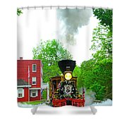 A President's Funeral Train - 3435 Shower Curtain