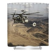 A U.s. Marine Corps Ch-53e Super Shower Curtain