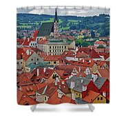 A View Of Cesky Krumlov In The Czech Republic Shower Curtain