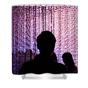 Abstract Light Shower Curtain