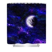 Abstract Stars Nebula Shower Curtain
