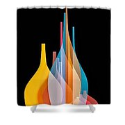 Abstract Wall Design Shower Curtain