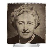 Agatha Christie 2 Shower Curtain