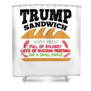 Anti Trump Impeach The President Vote For Dems Light Shower Curtain