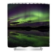 Aurora Borealis Over Iceland Shower Curtain