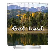 Autumn Aspen At Crystal Creek Reservoir Pikes Peak Shower Curtain