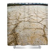 Badwater Basin Death Valley Salt Formations Shower Curtain