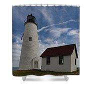 Bakers Island Lighthouse Salem Shower Curtain