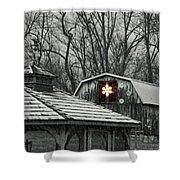 Barn Star Shower Curtain
