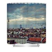 Berlin Skyline Shower Curtain