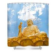 Big Golden Buddha Shower Curtain