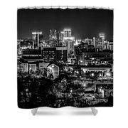Birmingham Alabama Evening Skyline Shower Curtain