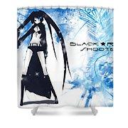 Black Rock Shooter Shower Curtain