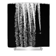 5 Blue Angels Black White  Shower Curtain