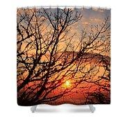 Blue Ridge Sunrise Shower Curtain