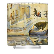 Bridge With Figures Shower Curtain