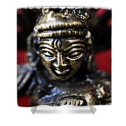 Buddha Sculpture Shower Curtain