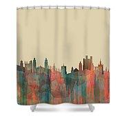 Cambridge England Skyline Shower Curtain