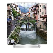 Canals Of Annecy Shower Curtain
