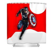 Captain America Collection Shower Curtain
