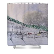 5 Card Stud Shower Curtain