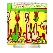 5 Cats On A Piano Shower Curtain