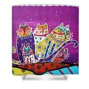 5 Cats Shower Curtain