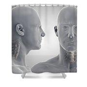 Cervical Vertebrae Shower Curtain