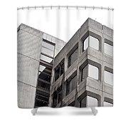 Concrete Building Shower Curtain