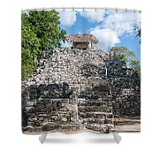 Conjunto Pinturas At The Coba Ruins  Shower Curtain