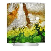 Cow With Bell Shower Curtain