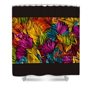 Daisy Petals Abstracts Shower Curtain