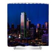 Dallas At Dusk Shower Curtain