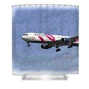 Delta Airlines Boeing 767 Art Shower Curtain