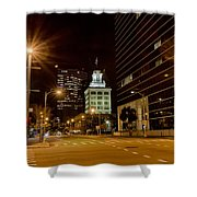 Downtown Tampa Florida Skyline At Night Shower Curtain