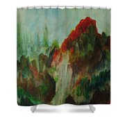 5 Elements For Prosperity Shower Curtain